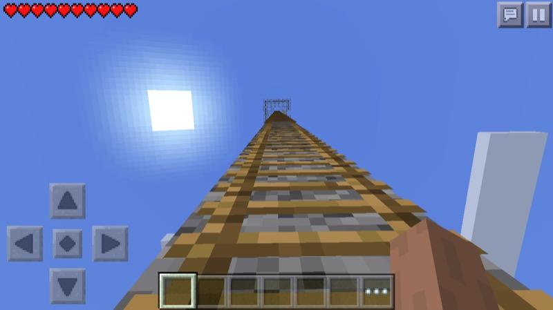 《マインクラフトPE》♯3塔編 塔の上から設計・作り方を構想しよう07