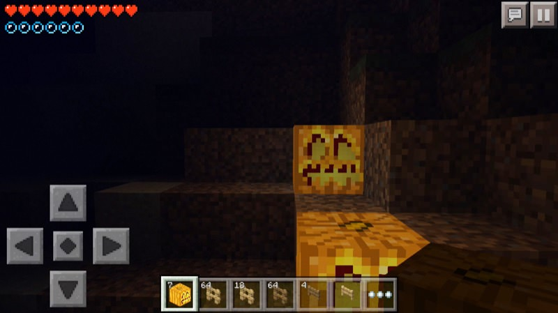 《マインクラフトPE》♯4かぼちゃランタンを水中設置!いい感じ♪10