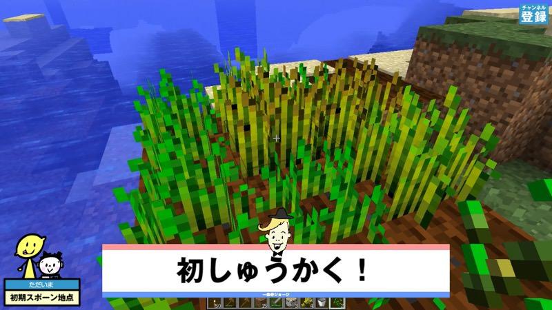 【マインクラフト】畑の収穫とパンの作り方(焼く・食べ方)、綺麗な湖の発見  実況マイクラはじめ!#008