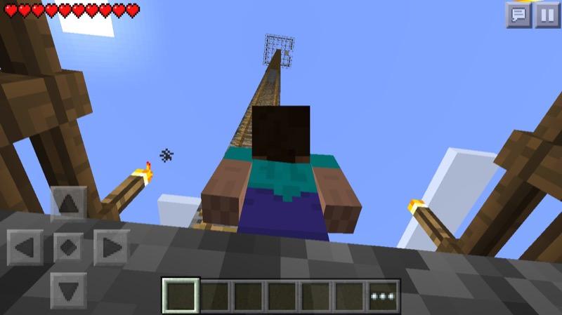 《マインクラフトPE》♯3塔編 塔の上から設計・作り方を構想しよう06