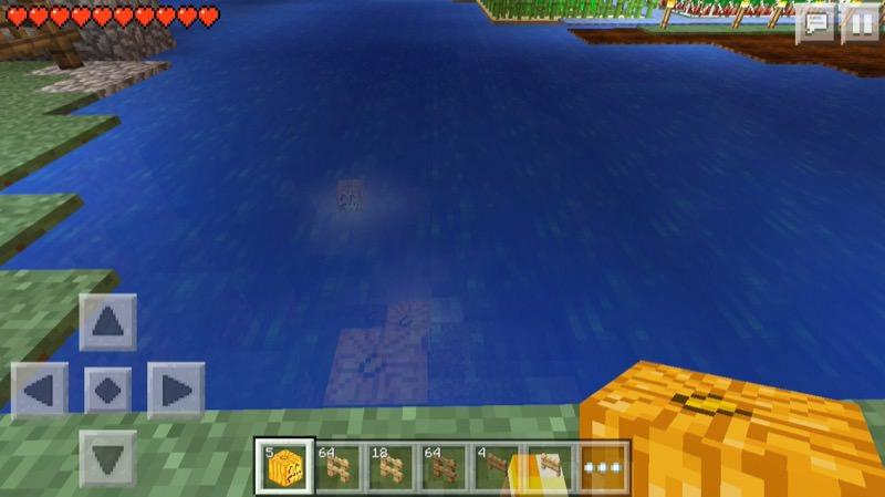 《マインクラフトPE》♯4かぼちゃランタンを水中設置!いい感じ♪11
